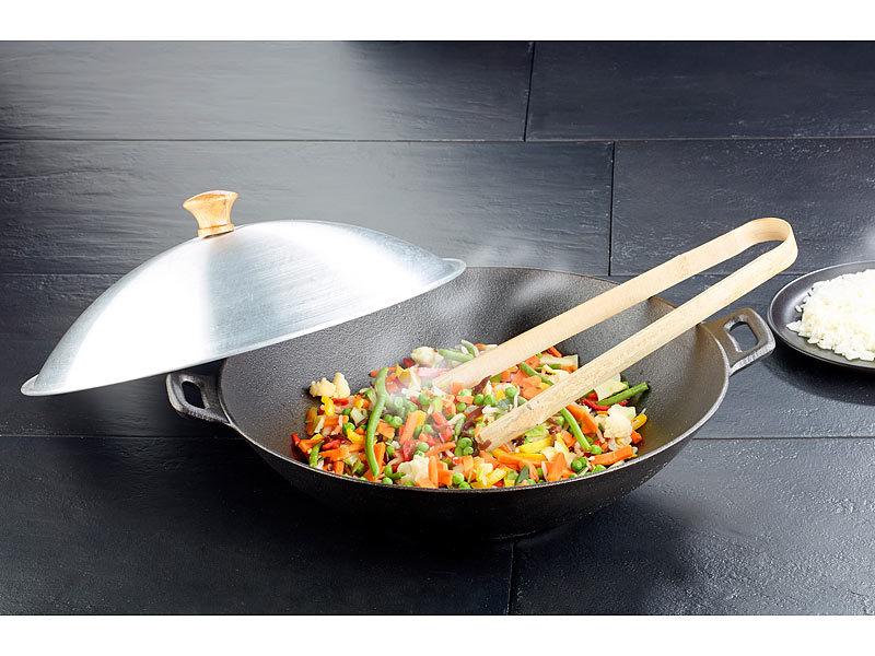 tornwald schmiede gusseisen wok set 37cm. Black Bedroom Furniture Sets. Home Design Ideas