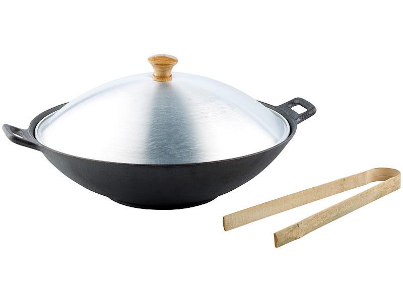 Tornwald Schmiede Gusseisen Wok Set 37cm